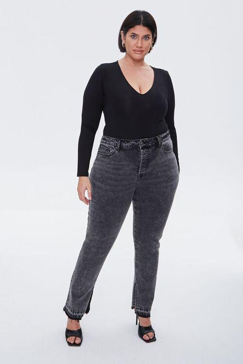 Plus Size Long-Sleeve Bodysuit, image 4