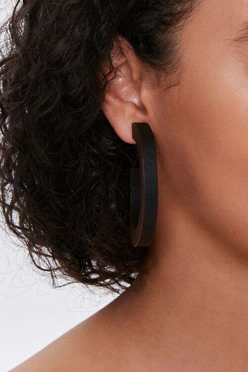 Wooden Hoop Earrings, image 2