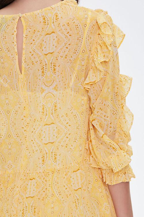 Paisley Ruffled Mini Dress, image 5