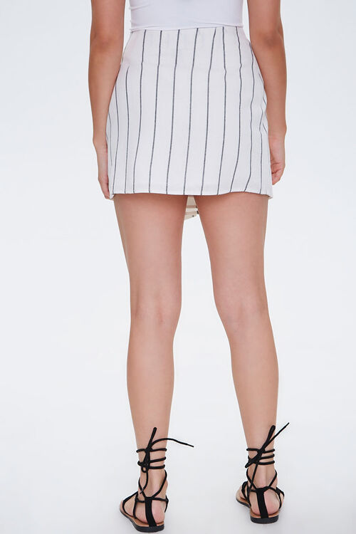 Striped Mock Wrap Skirt, image 4