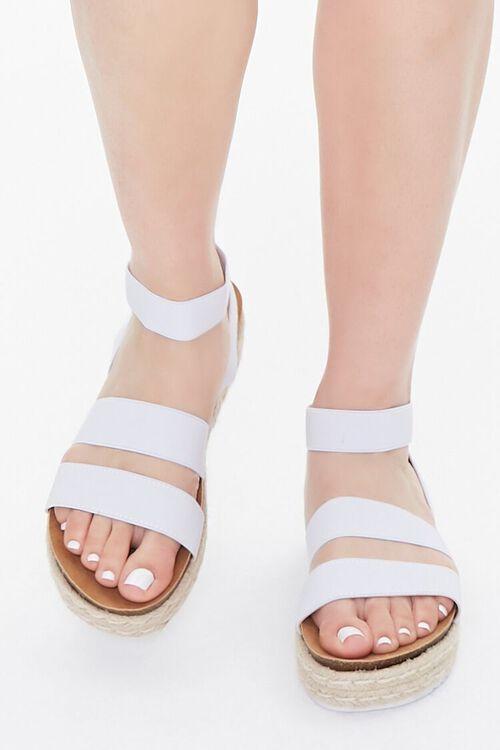 WHITE Espadrille Flatform Sandals, image 4