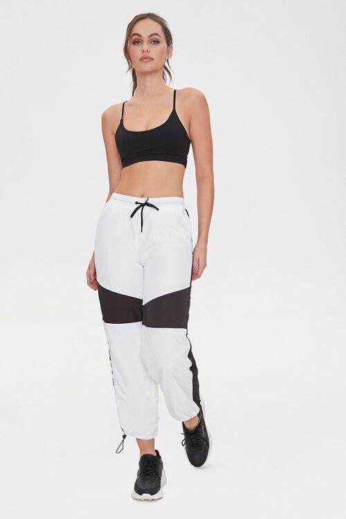 BLACK/WHITE Colorblock Windbreaker Pants, image 1