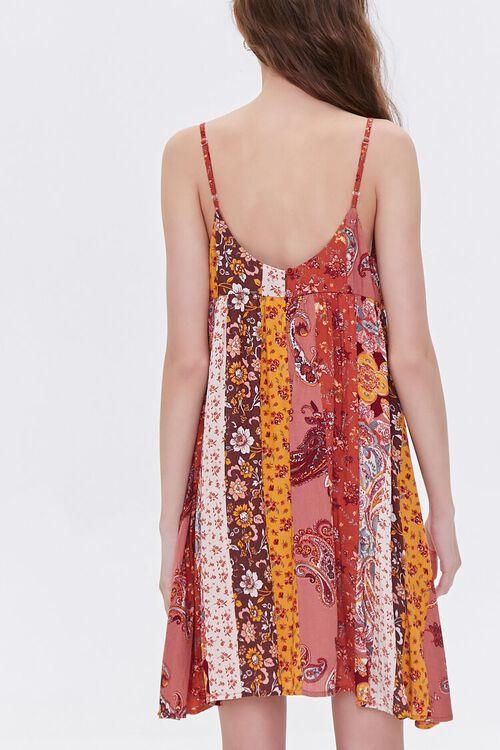 RUST/MULTI Patchwork Cami Mini Dress, image 3