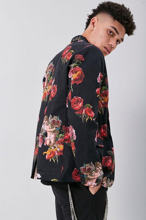Rose & Cherub Print Blazer, image 2