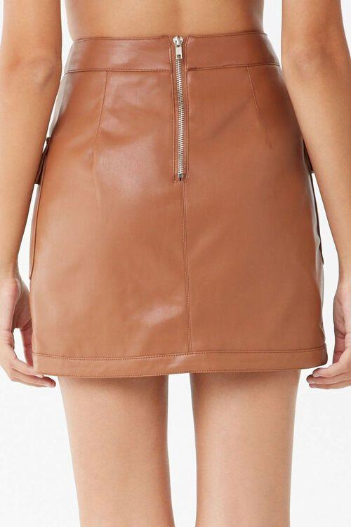 CIGAR Faux Leather Cargo Mini Skirt, image 3