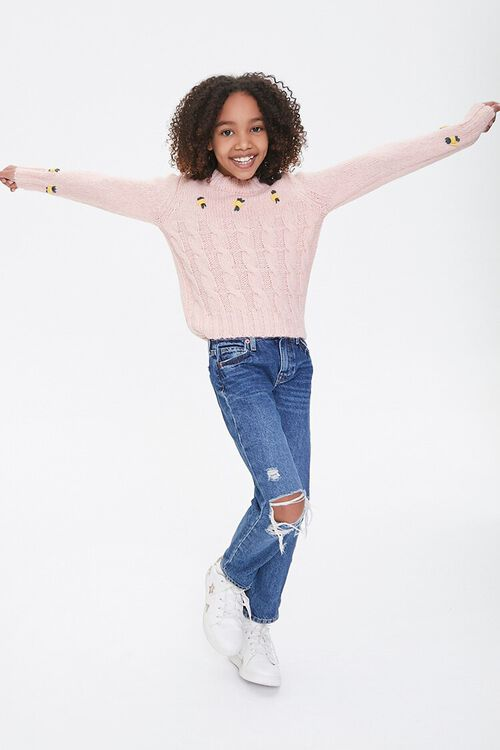 Girls Cable Knit Sweater (Kids), image 4