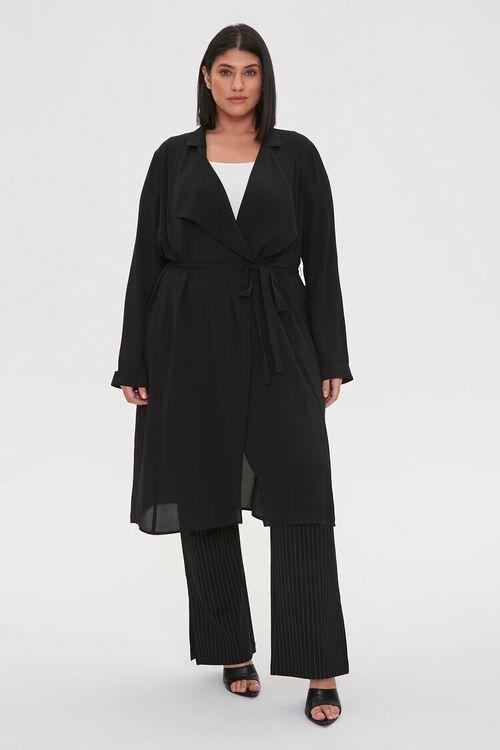 Plus Size Crepe Drape-Front Jacket, image 4