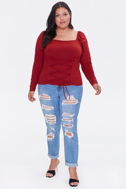 Plus Size Lace-Up Top, image 4