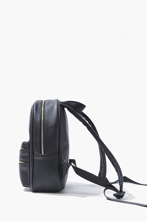 Faux Leather Backpack, image 2