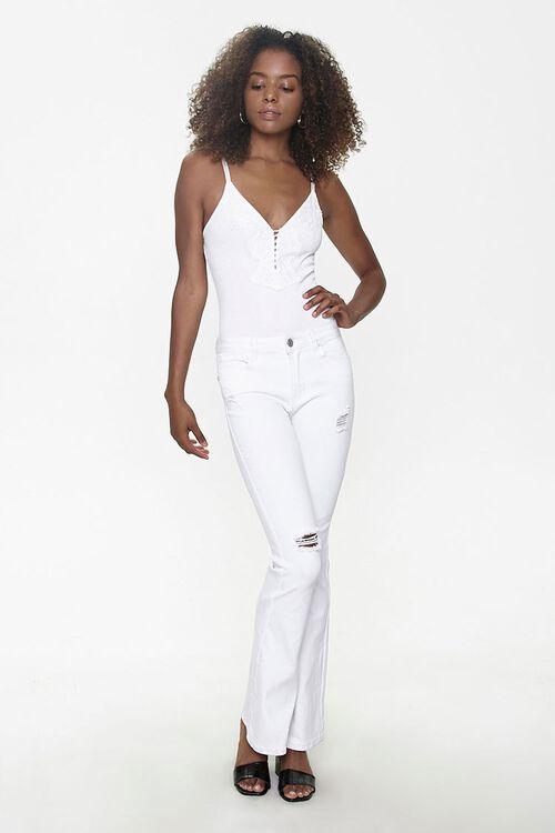 Ribbed Eyelash Lace Bodysuit, image 4