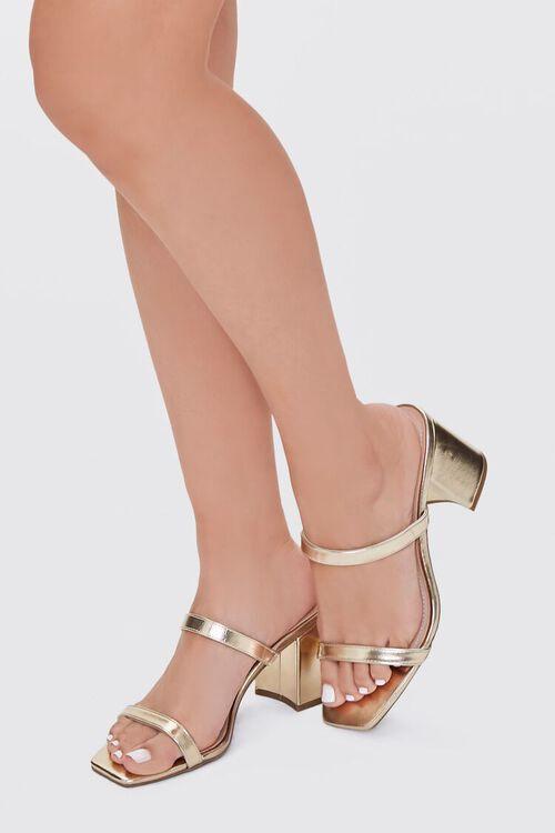Metallic Slip-On Block Heels, image 1