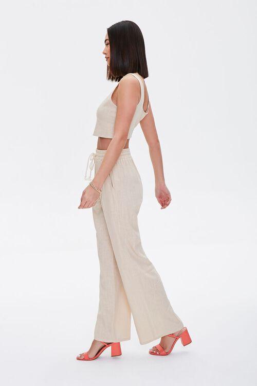 Linen-Blend Crop Top & Pants Set, image 2