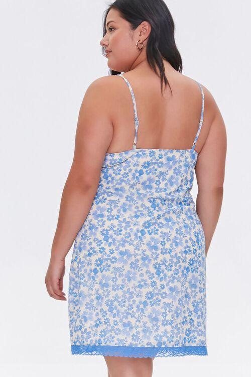 Plus Size Floral Mini Cami Dress, image 3