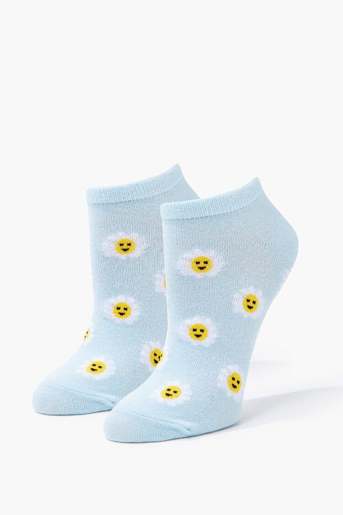 BLUE/MULTI Daisy Print Ankle Socks, image 1