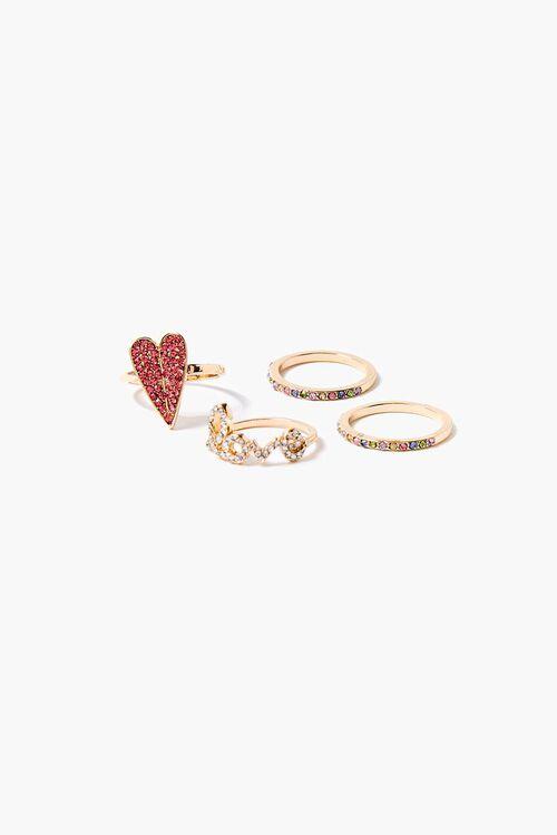 Hear Charm Ring Set, image 1