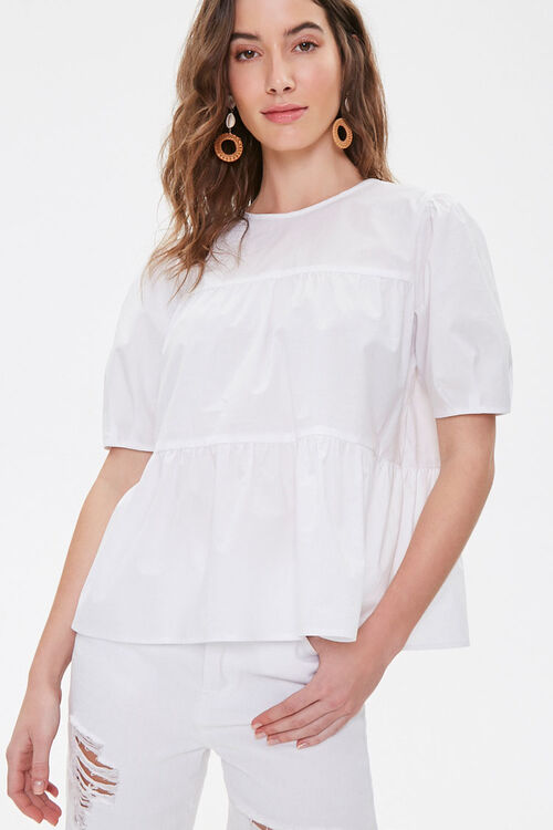 Boxy Tiered Flounce Top, image 1