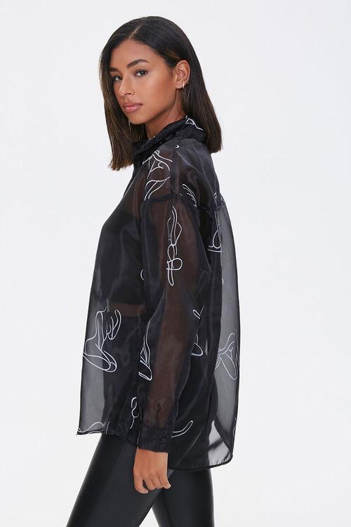 BLACK/WHITE Figure Art Print Shirt, image 2