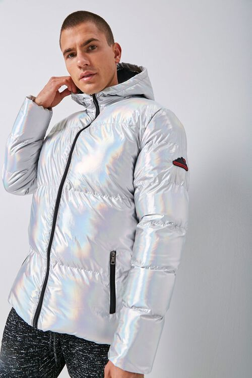 Reason Iridescent Hooded Puffer Jacket, image 1