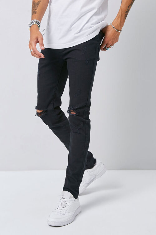 Distressed Slim-Fit Chino Pants, image 1