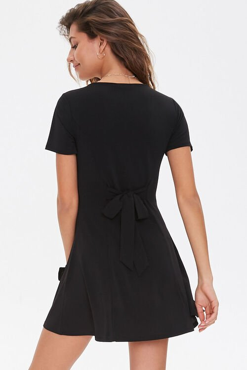 Buttoned Fit & Flare Mini Dress, image 3
