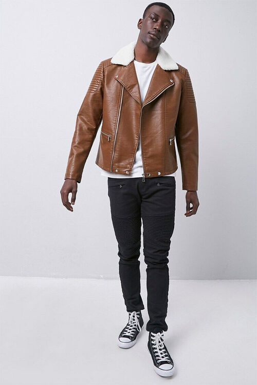 Faux Leather Moto Jacket, image 4