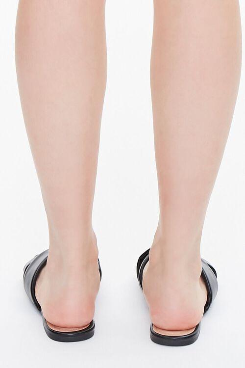 Faux Leather Crisscross Flat Sandals, image 3