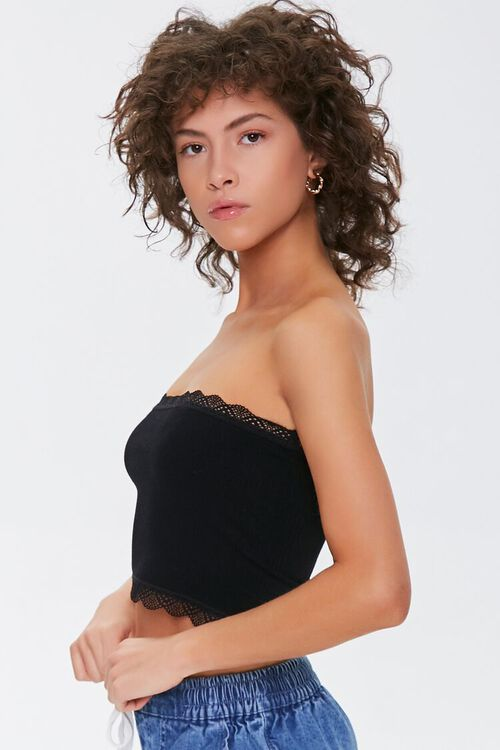 Seamless Crochet-Trim Tube Top, image 2