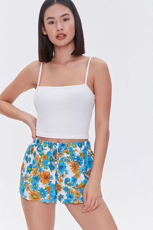 Floral Print Sleep Shorts, image 1