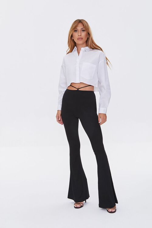 Cropped Button-Front Shirt, image 4