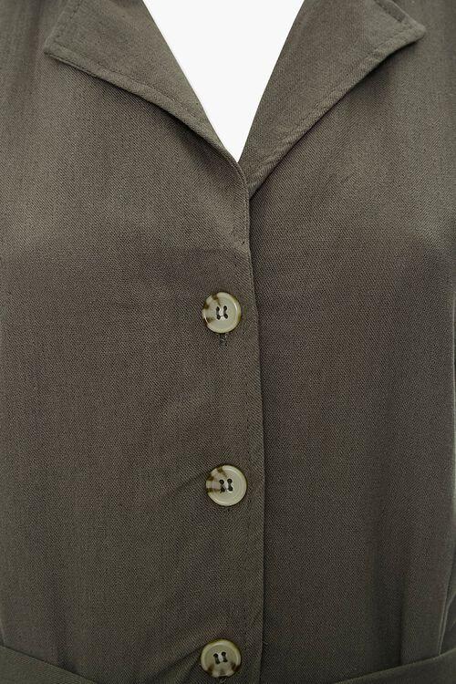 OLIVE Sleeveless Linen-Blend Romper, image 4
