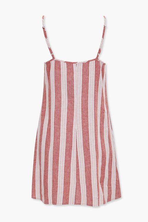Linen-Blend Striped Cami Dress, image 3