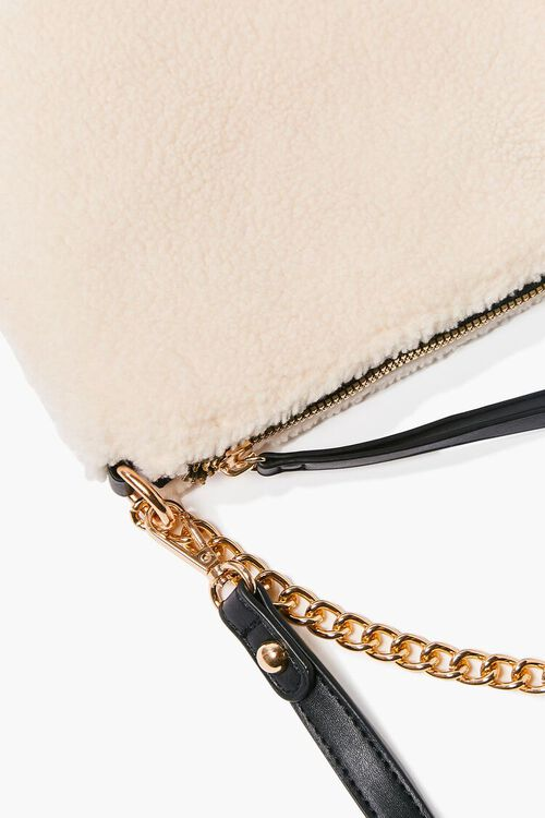 Faux Shearling Chain Shoulder Bag, image 4
