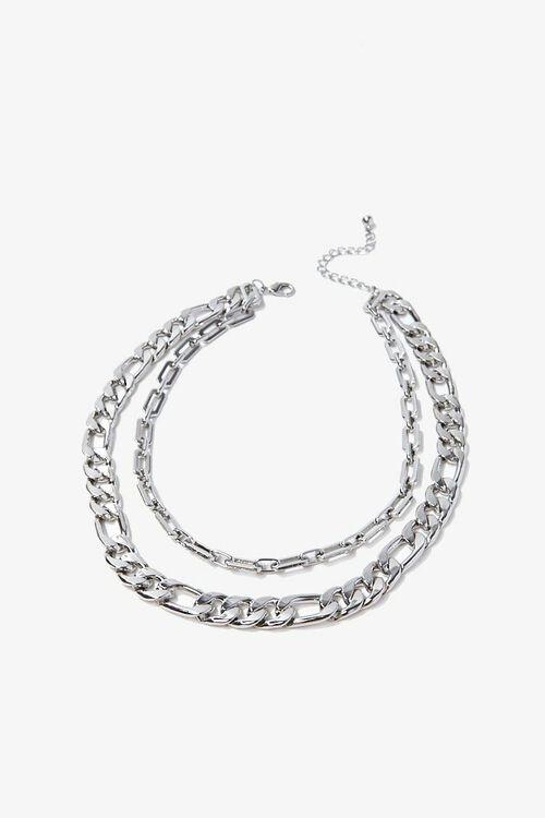 SILVER Layered Chain Necklace, image 3