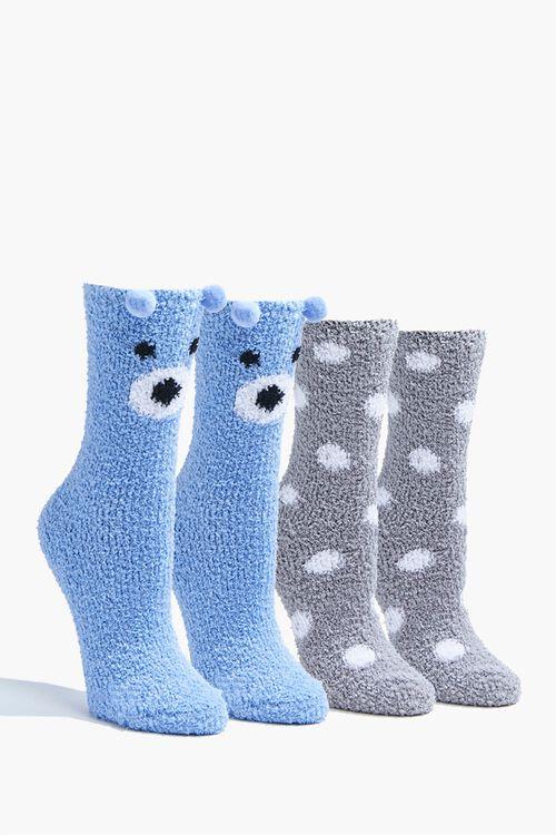 Pom Pom Bear Crew Socks Set, image 1