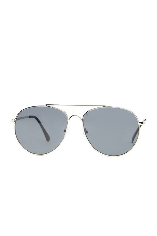 Men Flat-Lens Aviator Sunglasses, image 1