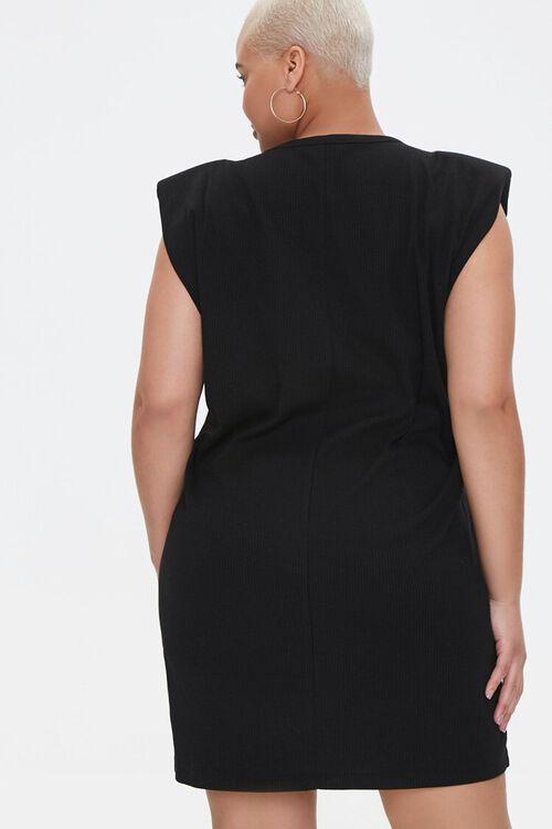 Plus Size Shoulder Pads Tank Dress, image 3