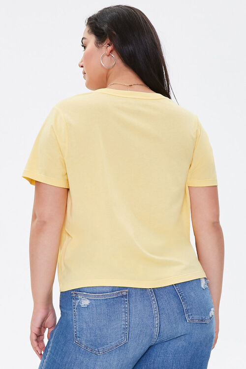 Plus Size Relaxed V-Neck Tee, image 3