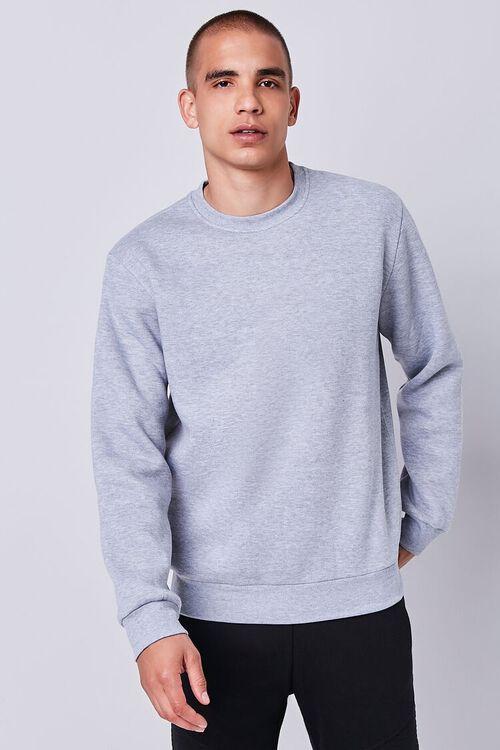 Heathered Fleece Crew Neck Sweatshirt, image 5
