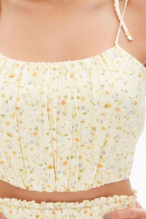 Floral Tie-Strap Cropped Cami, image 5