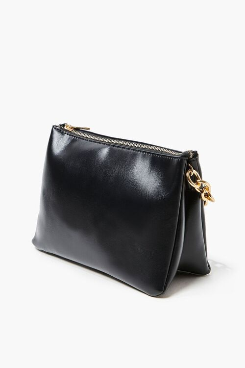 Chain Faux Leather Crossbody Bag, image 3