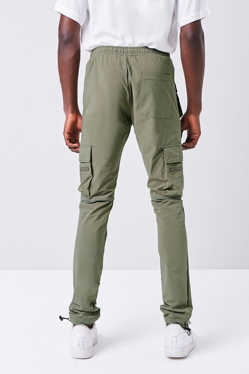 Piped-Trim Drawstring Cargo Pants, image 4