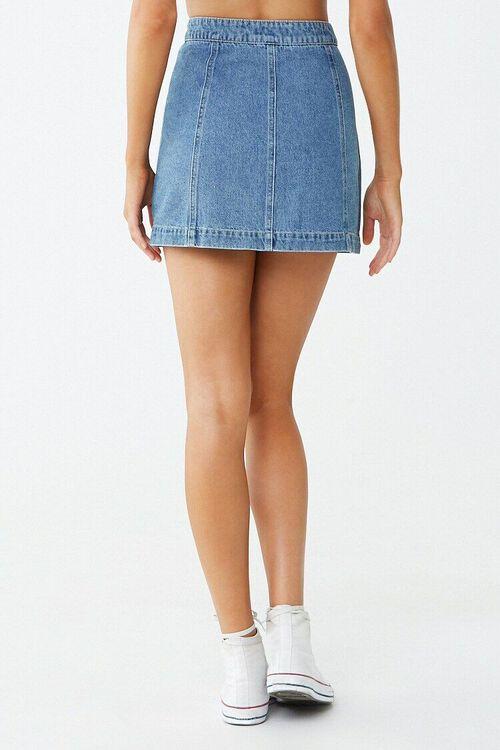 Denim Button-Front Skirt, image 4