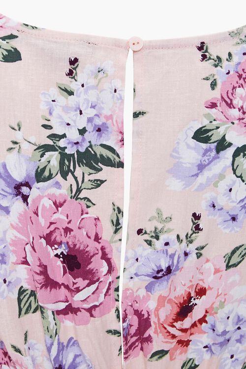 Floral Print Cutout Dress, image 3