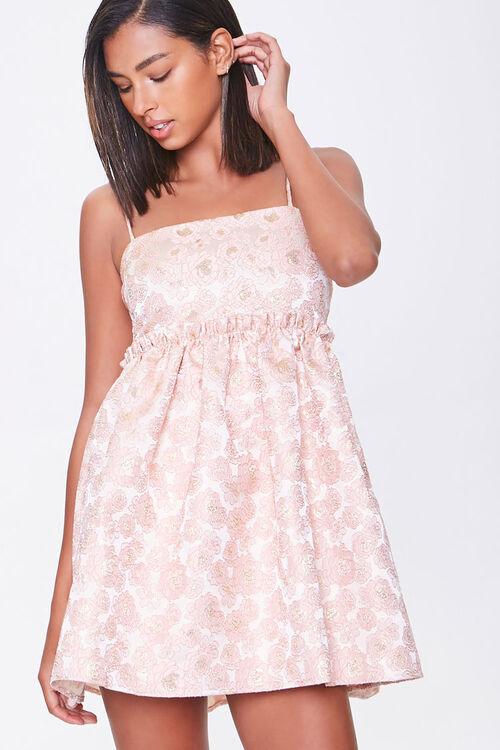 Jacquard Rose Print Dress, image 1
