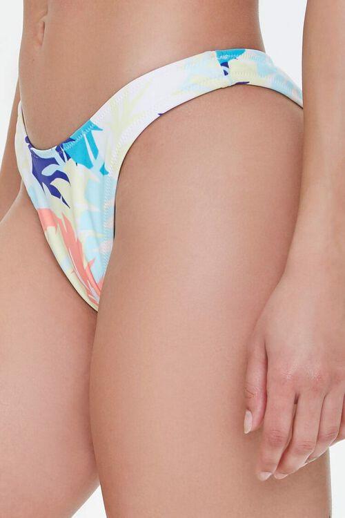 Tropical Leaf Print Bikini Bottoms, image 3