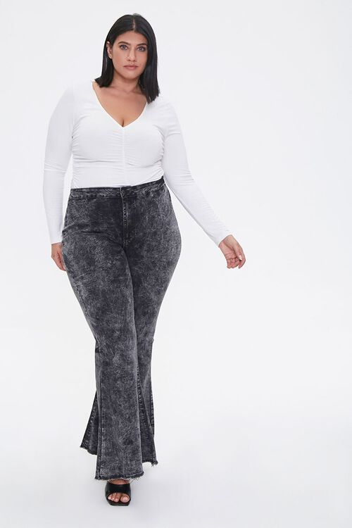 Plus Size Flare Jeans, image 1