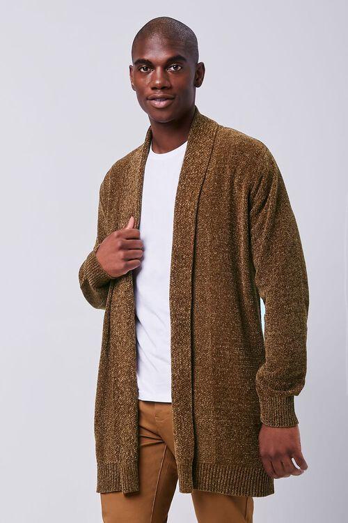 Brushed Knit Cardigan Sweater, image 1