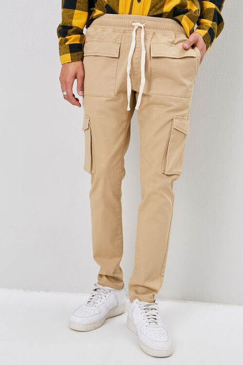 Drawstring Chino Cargo Pants, image 2