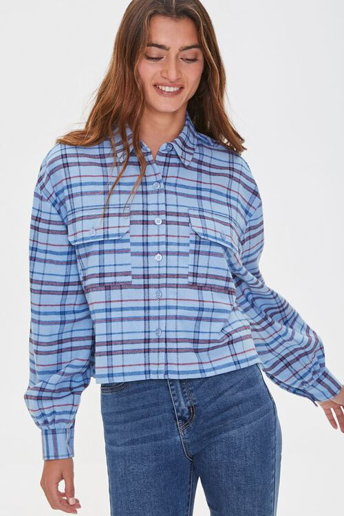 Plaid Drop-Sleeve Shirt, image 1