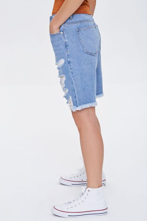 Distressed Denim Bermuda Shorts, image 3